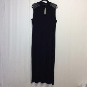 Chicos Travelers Maxi Dress Size 3 XL 16 Black NWT